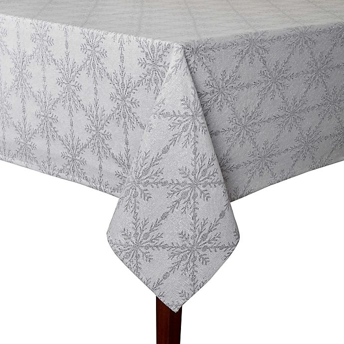 Alternate image 1 for Winter Woven 52-Inch Square Tablecloth in Grey