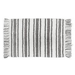 Farmhouse Ticking Striped Bath Rug Collection