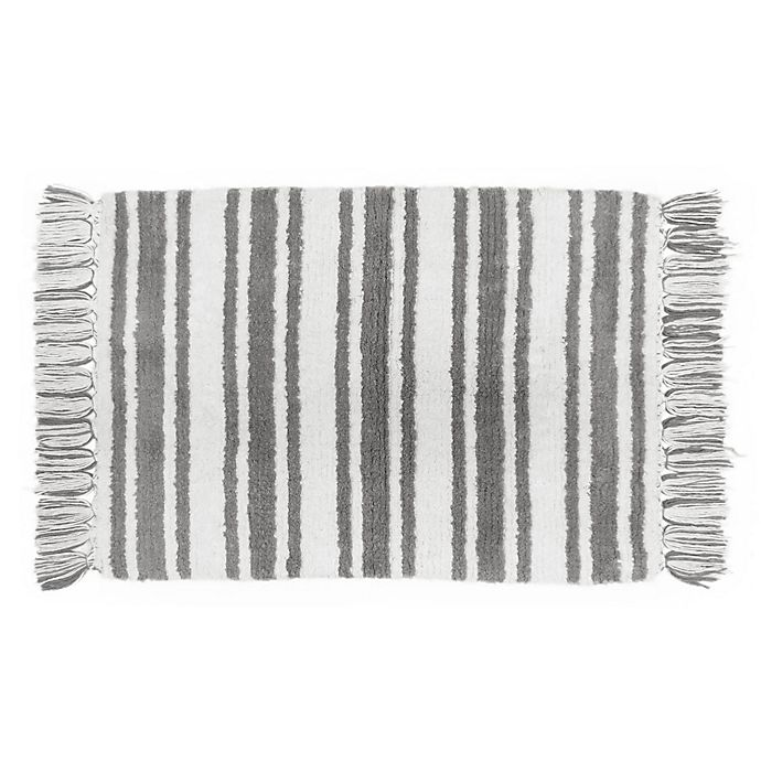 7528f9be7763 Farmhouse Ticking Striped Bath Rug Collection | Bed Bath & Beyond