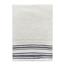 Farmhouse Ticking Striped Bath Towel in Cream/Black