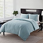 VCNY Home Nina Embossed 3-Piece Full/Queen Comforter Set in Blue