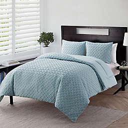 VCNY Home Nina Embossed 3-Piece Full/Queen Comforter Set in Blue