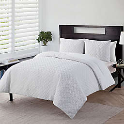 VCNY Home Nina Embossed 3-Piece King Comforter Set in White