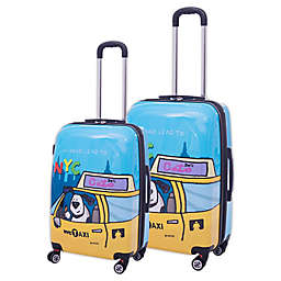 Ed Heck Riley Hardside Spinner Checked Luggage in Blue