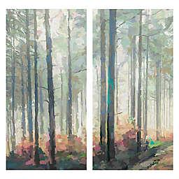 Woodland Journey Panel I & II 2-Piece Canvas Wall Art Set