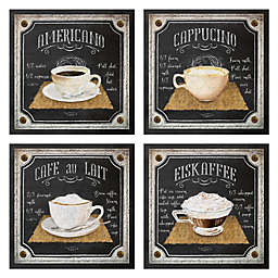 Chalk Americano 12-Inch Wall Art (Set of 4)