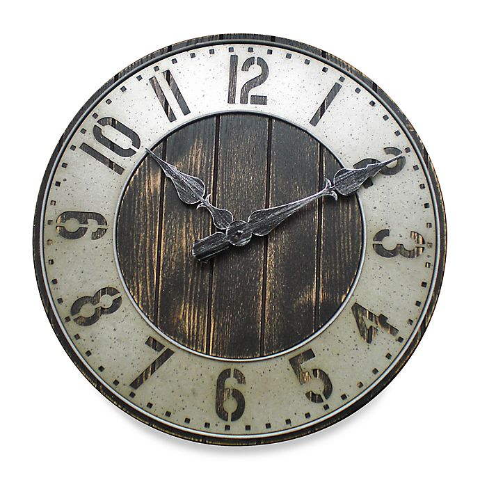 Alternate image 1 for Rustic Punched Metal Wall Clock