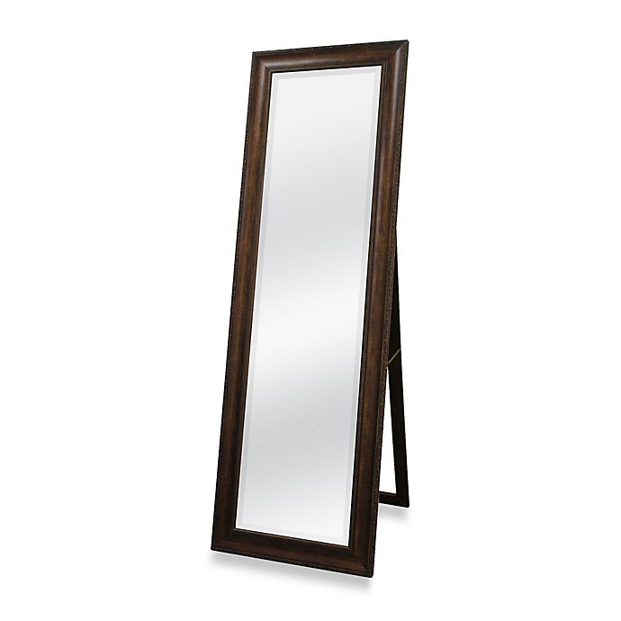 Alternate image 1 for Golden Bronze 20-Inch x 60-Inch Floor Mirror with Easel