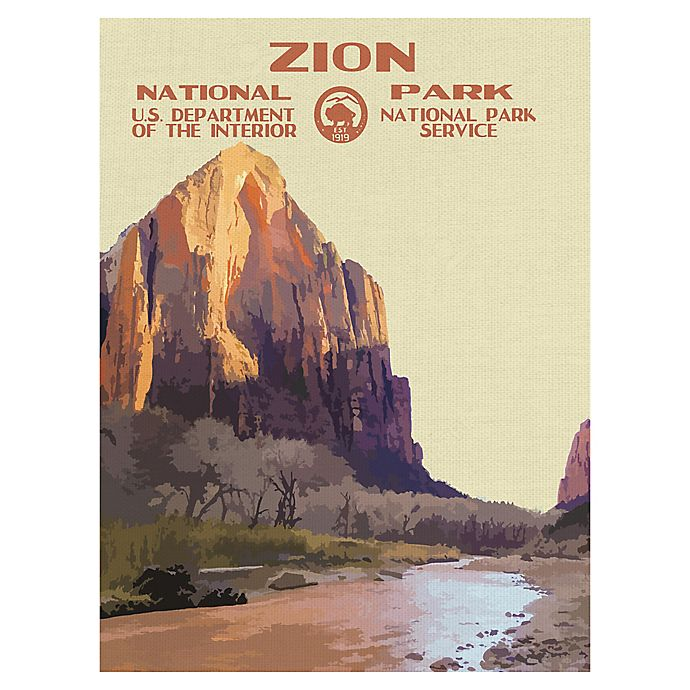 Alternate image 1 for Masterpiece Art Gallery Zion I 30-Inch x 40-Inch Canvas Wall Art