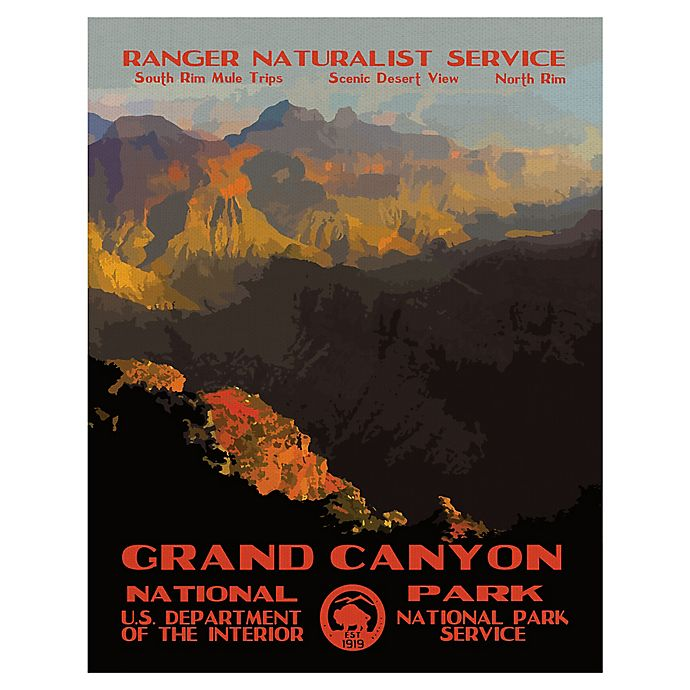 Alternate image 1 for Purple Moose Basics Grand Canyon II 22-Inch x 28-Inch Landscape & Nature Wrapped Canvas