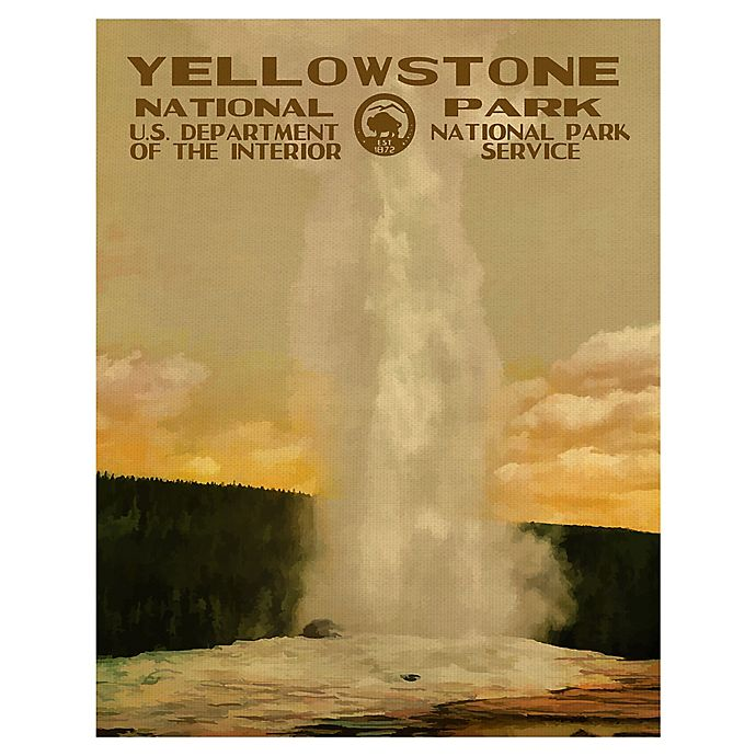 Alternate image 1 for Purple Moose Basics Yellowstone-II 22-Inch x 28-Inch Canvas Wall Art