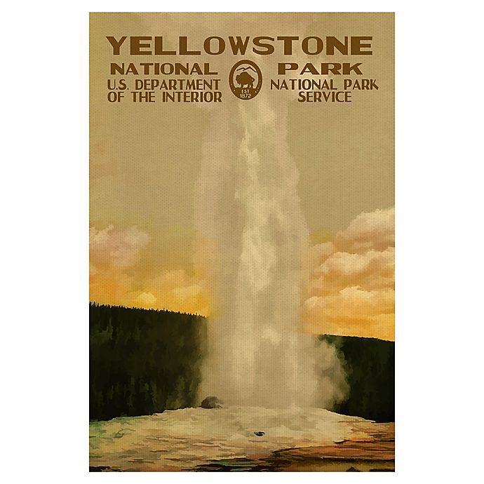 Alternate image 1 for Purple Moose Basics Yellowstone-II 24-Inch x 36-Inch Canvas Wall Art