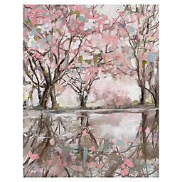 Pink Blossom Reflection Canvas Wall Art