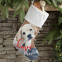 Holiday Photo Memories Personalized Christmas Stocking