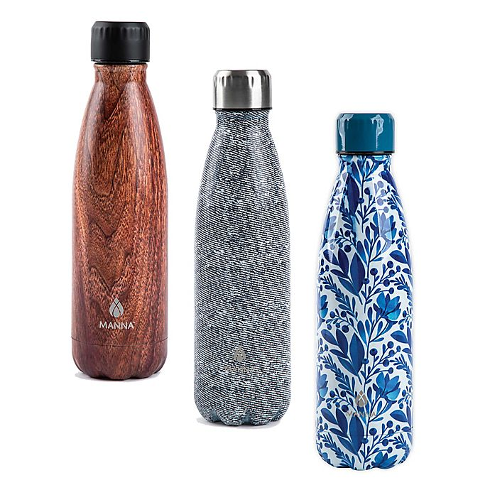 Alternate image 1 for Manna™ Vogue® 17 oz. Double Wall Stainless Steel Bottle Collection