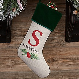 Nostalgic Noel Personalized Christmas Stocking