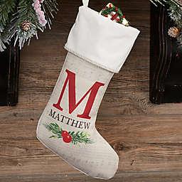 Nostalgic Noel Personalized Christmas Stocking
