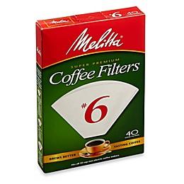 Melitta® 40-Count Number 6 White Super Premium Coffee Filters