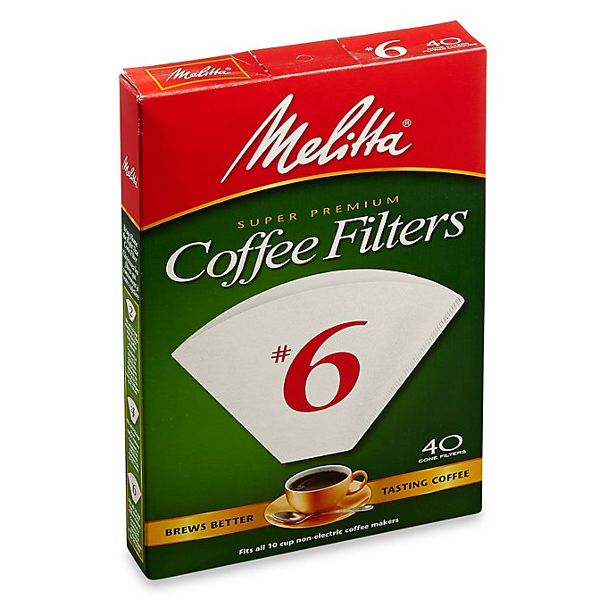 Alternate image 1 for Melitta® 40-Count Number 6 White Super Premium Coffee Filters