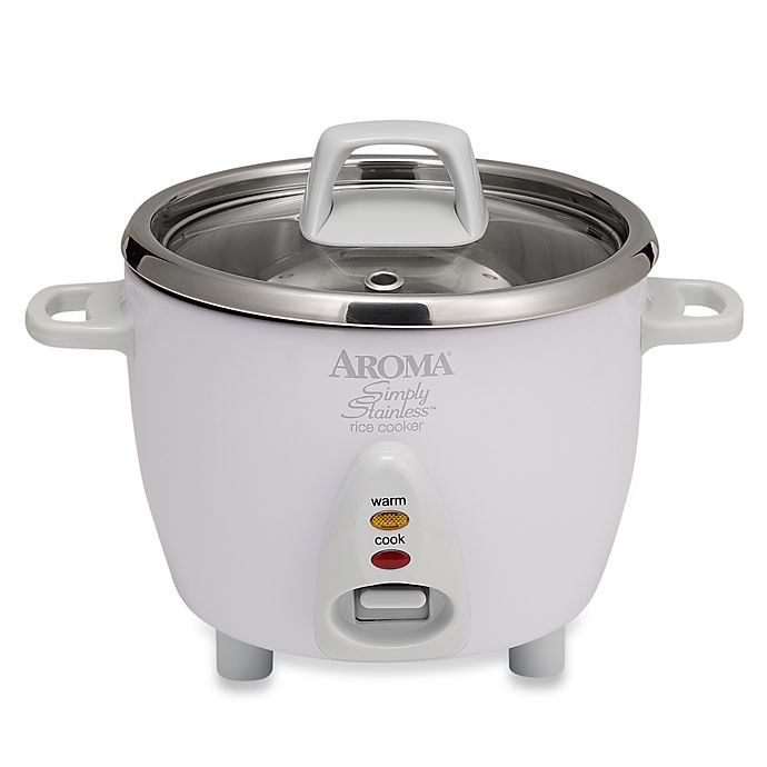 Alternate image 1 for Aroma® Simply Stainless™ 6-Cup Rice Cooker
