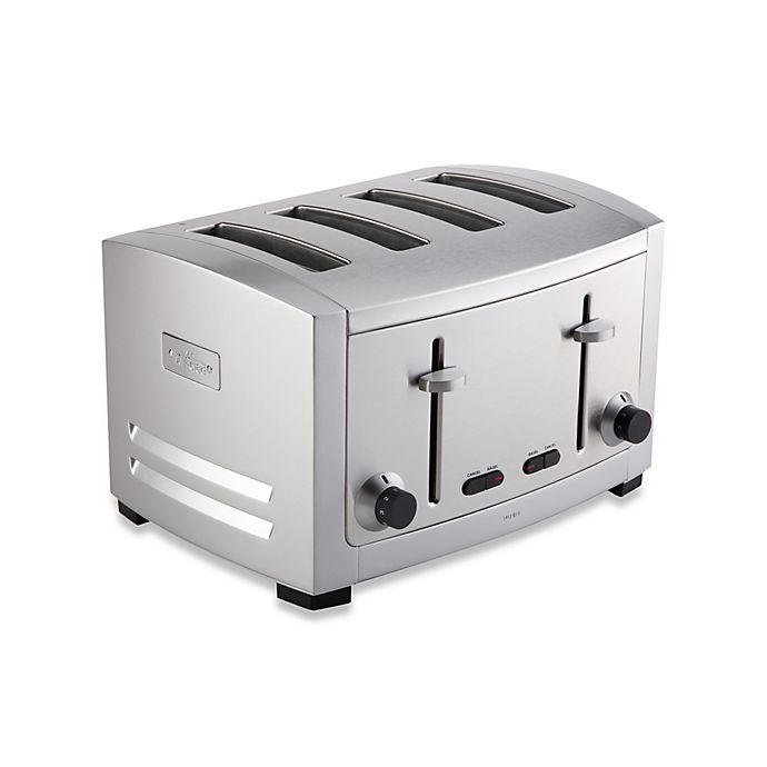Alternate image 1 for All-Clad 4-Slice Die Cast Stainless Steel Toaster