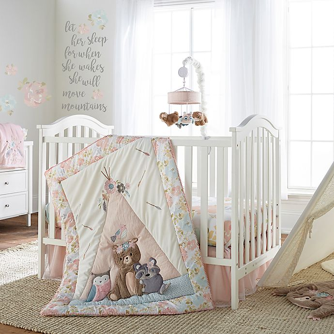 ea7f094ac Levtex Baby® Malia 4-Piece Crib Bedding Set in Pink/Blue | Bed Bath ...
