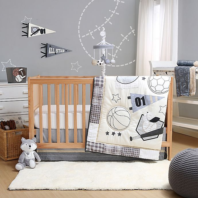 The Peanutshell Sports League Crib Bedding Collection
