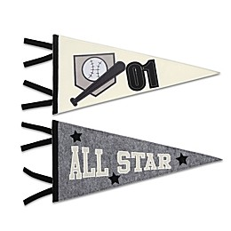 The Peanutshell™ Sports League 16.5-Inch x 8-Inch Felt Wall Art (Set of 2)