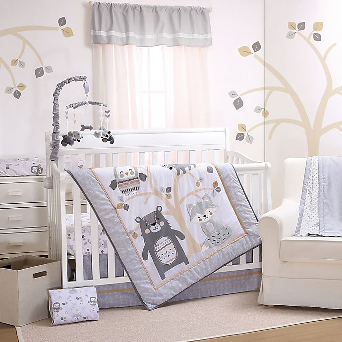 Alternate image 1 for Little Haven Woodland Friends Crib Bedding Collection in Grey