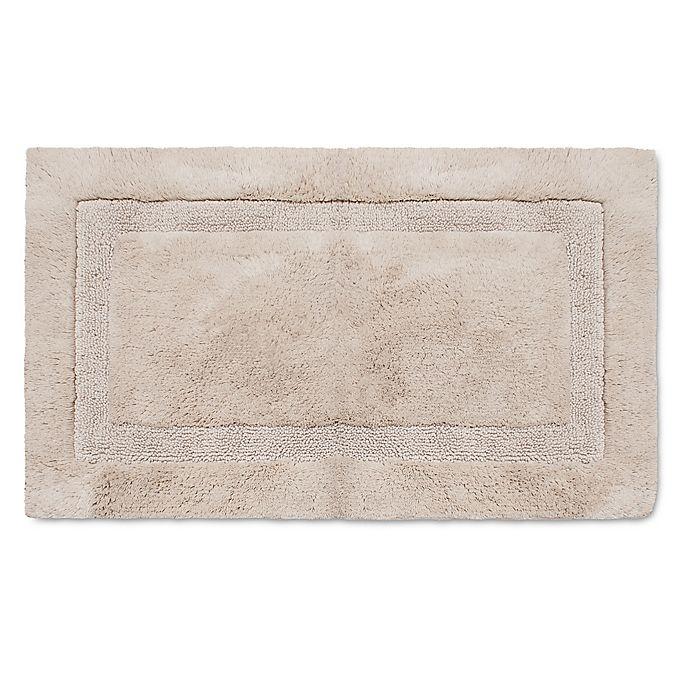 Alternate image 1 for Wamsutta® Luxury Border Plush MicroCotton Bath Rug