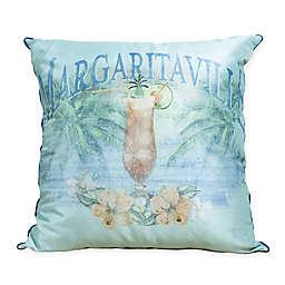Margaritaville Mai Tai Indoor/Outdoor Square Throw Pillow in Blue