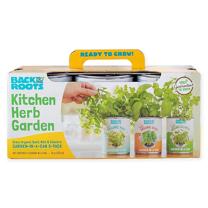 Kitchen Garden Kit: Back To The Roots Growing Kitchen Herb Garden Kit