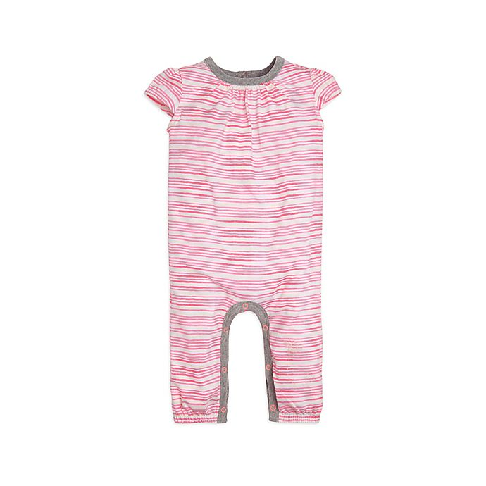 Alternate image 1 for Burt's Bees Baby® Preemie On the Road Organic Cotton Coverall in Coral