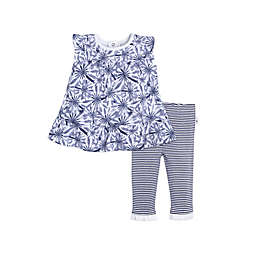 Burt's Bees Baby® 2-Piece Organic Cotton Denim Daisy Dress and Legging Set