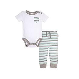 Burt's Bees Baby® Stripe Bodysuit & Pant Set in White