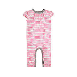 Burt's Bees Baby® On the Road Stripe Organic Cotton Coverall in Coral