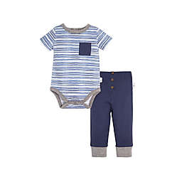 Burt's Bees Baby Watercolor Stripe Bodysuit & Cuff Pant Set
