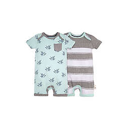 Burt's Bees Baby® Stripes & Sprouts 2-Pack Shortall Set