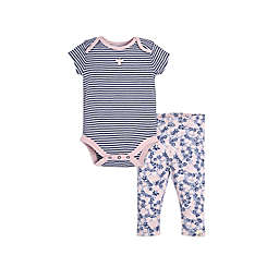Burt's Bees Baby® 2-Piece Striped Bodysuit and Pant Set