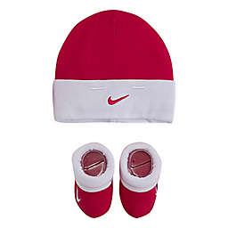 7c65d7277bd72 Nike 2-Piece Swoosh Beanie Hat and Booties Set in Pink White