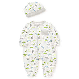 Little Me Dino Footie & Cap Set