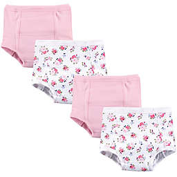 Luvable Friends® 4-Pack Floral Training Pants in Pink