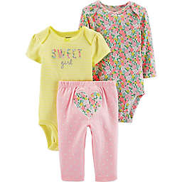 9f72a854f carter's® 3-Piece Sweet Girl Floral Multicolor Bodysuit and ...