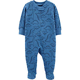 carter's® Preemie Textured Dinos Footie in Blue