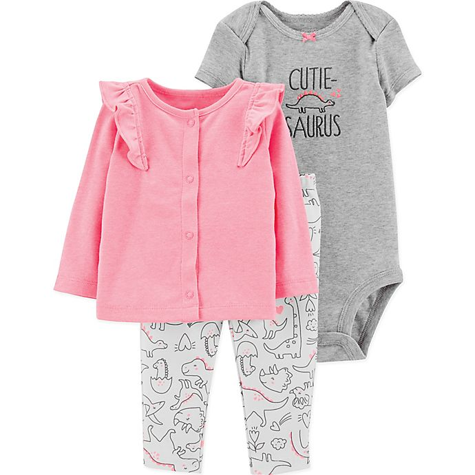LITTLE ME Lt Pink 3 pc Pant Set w//Puffy Jacket BodySuit /& Pant NWT