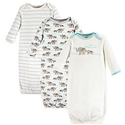 Touched by Nature Size 0-6M 3-Pack Elephant Gowns