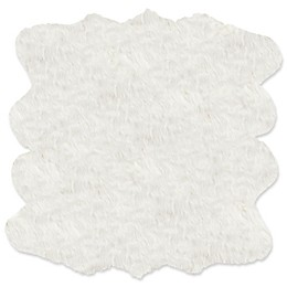 Lue Faux Fur™ Gordon Faux Sheepskin 6' Shag Rug in Off-White