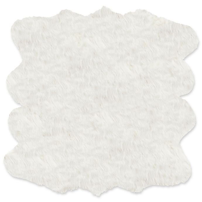 Alternate image 1 for Luxe Gordon Faux Fur Sheepskin Octo 6-Foot x 6-Foot Shag Rug/Throw in Off-White
