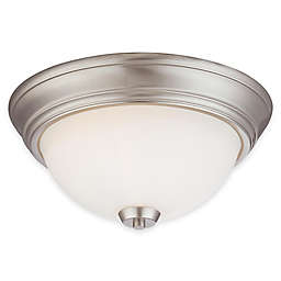 Minka Lavery® Overland Park 2-Light Ceiling Fixture with Glass Shade