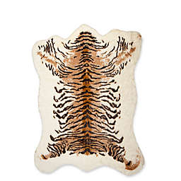 Luxe Faux Fur Hide 5-Foot 3-Inch x 7-Foot 6-Inch Rug/Throw in Tiger